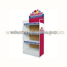 Advertising floor standing corrugated cardboard clear acrylic pens display rack