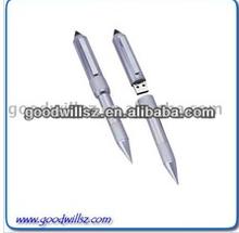 1G/2G/4G/8G metal pen usb flash drive 2.0