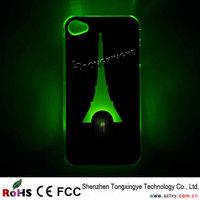 2014 Fashion Phone Case Led Flashing Bamboo Case For Iphone 5,5S