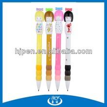 Kawayi Cartoon Design Plastic Material Children Ball Pen for School Supply
