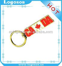 new design keyring canada souvenirs custom country flag keychains for home decor