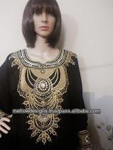 Negro mujeres caftán largo, abaya, jalabia