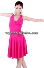 Hot for sale!Colorful worldstore Child Girls/Ladies Latin salsa cha cha tango Ballroom Dance Dress