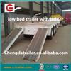 3 Axle Low bed semi trailer best selling/ heavy equipment dealer