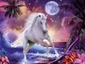 3dภาพสีน้ำมันนามธรรมที่สวยงามม้าป่า