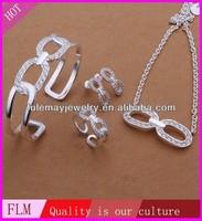 Elliptic hollow round circle indian polki bridal jewelry sets FS403