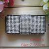 2014 fashion square jeweled rhinestone decorative shoe clip