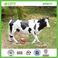 venta al por mayor baratos ganado soporte de resina jardín estatua de la vaca