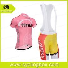 Latest fashion design oversized wholesale pink biking clothing with suspenders