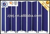 Mobile fabric screens room dividers with wheels