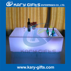Champagne LED Cordless Table with Glass