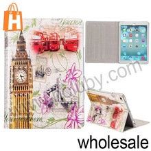 For iPad Air Case,Big Ben Pattern Flip Stand Magnetic Leather Case Cover for iPad 5