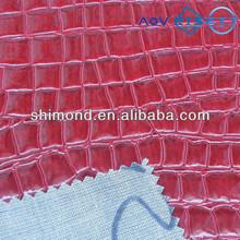 Crocodile Skin Embossed Pattern 100% PVC Leather For Bag