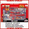 6603-30 fire truck toys set