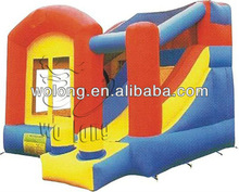cheap inflatable bounce house, slide combo