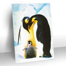 camminare in bianco neve 3d immagine pinguino