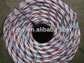 Pp la línea media de color blanco con red+blue cuerda