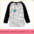 Novo design de moda impressão das senhoras camisa de manga longa tecido ktt-004