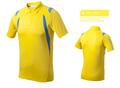 homens marca formal de poliéster dry fit rodando camisetas polo