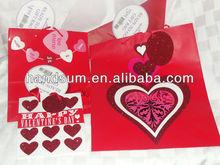 "Lot of 3 NEW-Hallmark GIFT Bags Valentine's HEARTS PAPER Package 5.5""x6.5""x3"",7.5""x9.5""x4.25"",10.25""x13""x5.5"" art.40072"