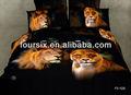 Nouveau 2013 lion. topselling colorant réactif imprimer 3d animal literie king size