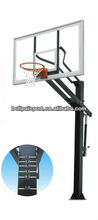 Residential basketball board with stand