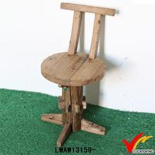 Primitive antique round handmade wooden back rest chair