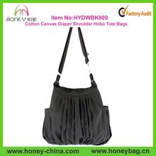 Handmade Large Capacity Ladies Cotton Canvas Diaper Hobo Shoulder Bag Factory