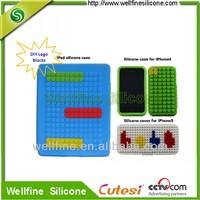 Fancy bricks design silicone case tablet pc case