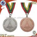 personalizado prata e cobre medalhas do esporte