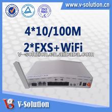 SIP Gateway, Wifi Voip Gateway, Gepon Onu, with 4*10/100M,2*FXS,802.11n