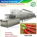 Microondas secador de túnel/chile máquina de secado/alimentos de deshidratación equipos