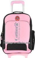 Hot sale promotional fashion big wheels school trolley bags for girl