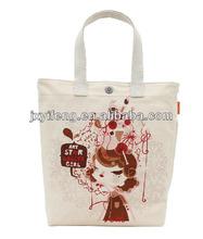 2014 New Design Lady Canvas Shopping Handbag Travel Portable Bag Supplier