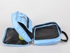 Blue Mens/Ladies Toiletries Bag Nylon Portable Toiletry Kit with handle