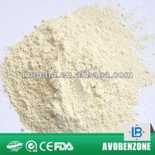 Avobenzone powder structural and molecular formula C20H22O3