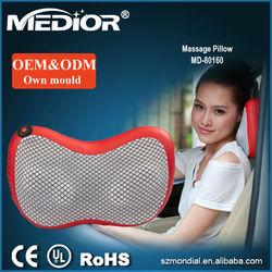 Cheap price guee vibrating shiatsu car massage pillow