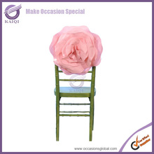 K05600-A wholesale pink felt rose decoration wedding fancy chair covers