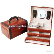 jewellery box with mirror,promotional leather special jewellery boxes