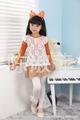 crianças de manga comprida chiffon vestidos para as meninas