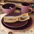 Estilo de la antigüedad juegos de vajilla de cerámica de dos tonos vajilla