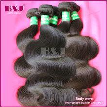 shedding&tangle free 6a virgin remy factory direct china inch brazilian body wave hair