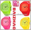 silicone colorido da moda geléia relógio chinês movimento japonês dongguan fonte da fábrica