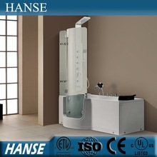 HS-B004 hot walk in open door bathtub for old people and disabled people