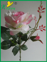 Fashion pink artificial glitter rose flowers