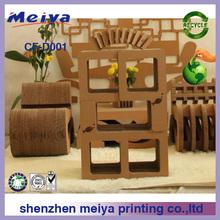 Meiya modular cardboard book shelf/corrugated cardboard furniture/cardboard storage boxes
