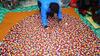 100% felt ball rugs ,absolutely handmade new design