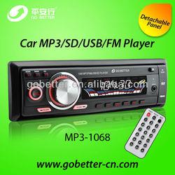 detachable single din car audio with usb sd