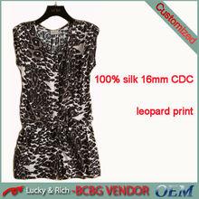 latest design 100% silk printed sexy ladies jumpsuits 2013