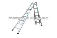 Lightweight extension step ladder,adjustable aluminum telescopic ladder EN131
